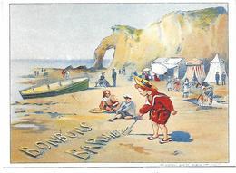 CPM - Pub Bonbons BARNIER - Plage D'Etretat - 1905 - Etretat