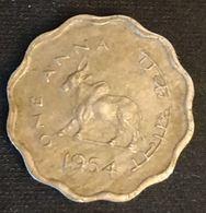 INDE - INDIA - 1 ANNA 1954 - KM 3 - ( Vache Sacrée ) - Indien