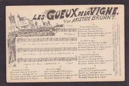 CPA Viticole événements Viticoles De 1911 Aude Les Gueux Chanson Aristide Bruant - Professions