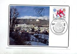 Carte Cachet Schladming Championnat Monde Ski Vue Ville - Affrancature Meccaniche Rosse (EMA)