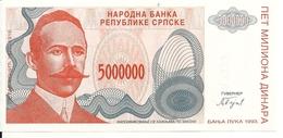 BOSNIE HERZEGOVINE 5 MILLION DINARA 1993 UNC P 153 - Bosnië En Herzegovina