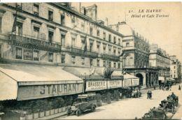 N°71123 -cpa Le Havre -hôtel Et Café Tortoni- - Hotels & Gaststätten