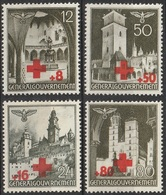 Gouvernement Général 1940 N° 52-55 Surcharge Croix Rouge (G1) - 1939-44: 2. WK
