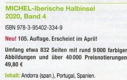 MICHEL Europa Iberische Halbinsel 2020 Katalog Band 4 Neu 50€ Südwest-Europe Andorra/spanische Post Espana Portugal - Original Editions