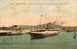 025 921- CPA - France - (50) Manche - Cherbourg - Les Steamers Des Compagnies Transatlantique - Cherbourg