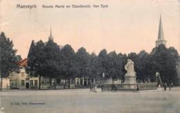 Belgique - Maaseyck - Groote Markt En Standbeeld Van Eyck - Maaseik