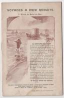 Compagnie Ferroviaire De L'Ouest. Voyages à Prix Réduits. 1° Billets De Bains De Mer. Tarif Au Départ De Paris - Dépliants Touristiques