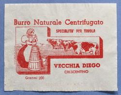 Pubblicità Carta Confezione Etichetta Epoca Burro Vecchia Diego Crescentino - Publicités