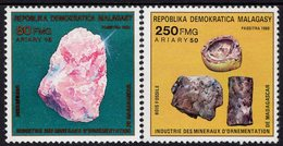 Madagascar - 1988 - Minerals - Mint Stamp Set - Madagascar (1960-...)