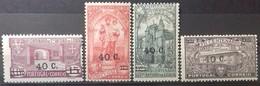 PORTUGAL N° 566 + 568 à 570 COTE 30,20 € NEUF * MH TIMBRES COMMEMORATIFS DE 1931 SURCHARGES DE LA NOUVELLE VALEUR - Ungebraucht