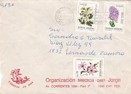 ORGANIZACION MEDICA SAN JORGE. COMMERCIAL COVER CIRCULATED IN 1984, BUENOS AIRES TO LOMAS DE ZAMORA. MECICINE -LILHU - Briefe U. Dokumente