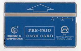 BERMUDES REF MV CARDS BER-L-01H 40U Date 1993 CN 309A 2500 Ex MINT Cote 120€ - Bermude