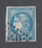 France - Timbres Oblitérés - Type Cérès émission De Bordeaux - N°45A - Cote: 130 Euros - Signé Thiaude - 1870 Emission De Bordeaux