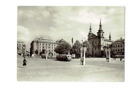Cpm - Jihlava Ville En République Tchèque - Masaryk Place. Tramway Animation - Tchéquie