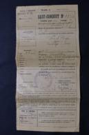 MILITARIA - Sauf Conduit Pour Un Voyage Par Chemin De Fer De Berck Plage Pour Les Andelys En 1918 - L 58331 - Documenti