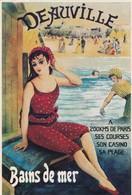 PUBLICITE / RECLAME / FRANCE /  DEAUVILLE  / CARTE POSTALE D UNE ANCIENNE AFFICHE - Advertising