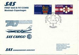 Canada First SAS B-747/combi Flight Montreal - Copenhagen 7-4-1978 - 1952-.... Règne D'Elizabeth II