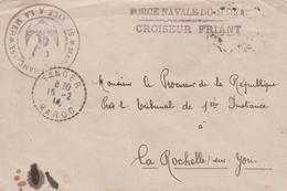 MAROC TANGER OBLITERATION FORCE NAVALE DU MAROC CROISEUR FRIANT - Maroc (1956-...)