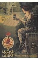 PUBLICITE / RECLAME / ENGELAND /  LUCAS LAMPS  / CARTE POSTALE D UNE ANCIENNE AFFICHE - Advertising