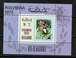 #A159# RAS AL KHAIMA MICHEL BL D95 MNH**. SPACE. - Ras Al-Khaima