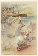 PUBLICITE / RECLAME / UNITED KINGDOM / GORDON HOTELS   / CARTE POSTALE D UNE ANCIENNE AFFICHE - Advertising