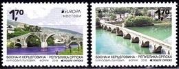Europa Cept - 2018 - Bosnia And Herzegovina *Serbia Post - (Bridges) ** MNH - 2018