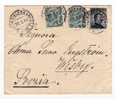 Lettre 1910 Italie Savona Alessandria Visby Suède Svezia Italia Cachet Ambulant - 1900-44 Victor Emmanuel III