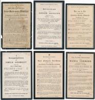 Gistel / 6x Doodsprent / Bidprent  / Data Overlijden Tussen 1901 - 1913 - Devotieprenten