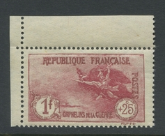 France 1926-27 Orphelin 1f. + 25c. Carmin Neuf ** Bon Centrage - Neufs