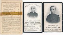 Gistel / 3x Doodsprent / Bidprent  / 1895 / 1904 / 1910 - Devotieprenten