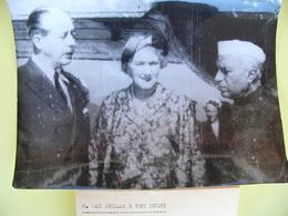 Radiophoto De Presse 1958 Premier Ministre De L'Inde NEHRU Et Le Premier Ministre De La Grande Bretagne Mac Millan - Berühmtheiten
