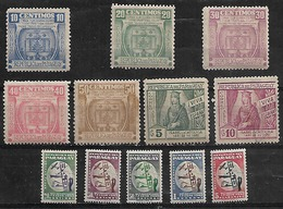 1949-52 Paraguay 12v, - Paraguay
