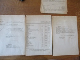 LILLE ET ARRAS LE 25 MARS 1941 LE PREFET DU NORD LE PREFET DU PAS DE CALAIS ARRÊTENT LES PRIX MAXIMA DES POISSONS DE MER - Historische Dokumente