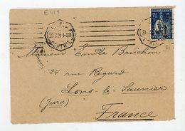 PORTUGAL: CERES -  N°Yt 237 SUR DEVANT DE LETTRE DU 23/3/21 DE LISBONNE POUR LA FRANCE - Lettres & Documents