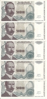 BOSNIE HERZEGOVINE 500 MILLION  DINARA 1993 VF P 155 ( 5 Billets ) - Bosnia And Herzegovina
