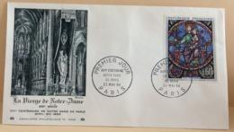 La Vierge De Notre Dame (Notre Dame De Paris) - Paris - 23.5.1964 -FDC 1er Jour (Coté 9,00€ Y&T) - 1960-1969