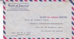 BANK OF AMERICA. PORTUGAL COMMERCIAL COVER, CIRCULATED IN 1959 VILA A REAL DE STO ANTONIO TO SAN FRANCISCO USA -LILHU - 1910-... Republic
