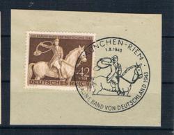 Deutsches Reich 1943 Braunes Band Mi.Nr. 854 Gestempelt Auf Papier - Usati