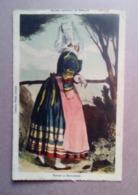 Carte Ancienne - Femme De Douarnenez- Anciens Costumes De Bretagne - Collection Villard, Quimper ( Illustration) - Douarnenez
