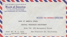 BANK OF AMERICA. PORTUGAL COMMERCIAL COVER, CIRCULATED IN 1955 VILA REAL DE STO ANTONIO TO SAN FRANCISCO USA -LILHU - 1910-... Republic