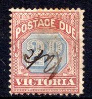 VICTORIA - (Colonie Britannique) - 1890 - TAXE - N° 4- 4 P. Rouge-carmin Et Bleu - (Postage Due) - Oblitérés