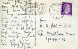 53378 Germany Reich, Circuled Card With Special Postmark Bayreuth 1944 City Of Richard Wagner - Muziek