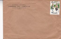 CARRERA DEL CASTILLO. SPAIN COMMERCIAL COVER FROM MADRID, NOT CIRCULATED -LILHU - 1931-Hoy: 2ª República - ... Juan Carlos I