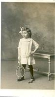 Photo Originale Petite Fille Tennis Raquette Volant - Deportes