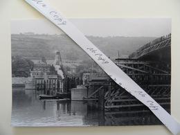LOT 5  Vues (15x10cm) /1949 (voir Description). Construction Pont Sur Meuse OMBRET Prés Amay, Ampsin Et Neuville S/ Huy - Belgien