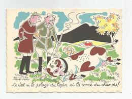 Cpsm Chasse Humour Ce N'est Ni Le Prelage Du Lapin Ni La Corne Du Chamois ! Par Bernard Aldebert Ed Janely - Humour