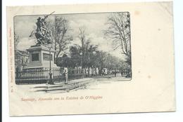 SANTIAGO - Very Old Postcard - Alameda Con La Estatua De O'Higgins -  N°9 Carlos Brandt 1900 - Chile