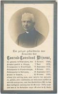 Loppem / Dadizele / Wevelgem / Doodsprent / Bidprent / EH C. Wijseur / 1849-1919 - Devotieprenten