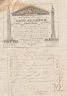 PARIS : Facture Illustrée De L'obélisque Et De La Colonne De La Gde Armée Du Papetier JOUANNE, Rue Nve Du Luxembourg.mb - France