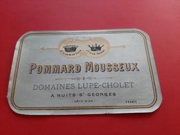 ETIQUETTE ANCIENNE / POMMARD MOUSSEUX / DOMAINES LUPE - CHOLET & Co A NUITS - St - GEORGES - Bourgogne